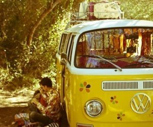 car, hippie, and love image
