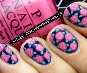 beauty, flower, and nail art image