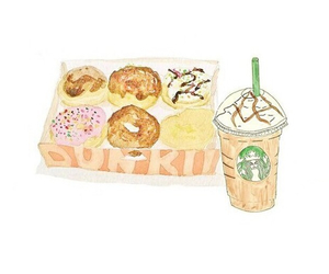dunkin donuts, starbucks, and tumblr image