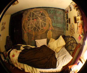bedroom and dream catcher image