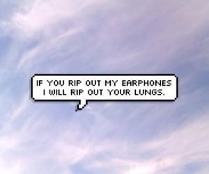 music, earphones, and grunge image