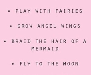 fairy, pink, and mermaid image