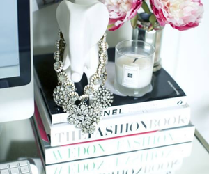 flowers, book, and fashion image