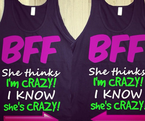 best friend, bff, and crazy image