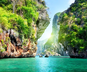thailand, sea, and nature image