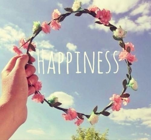 flower, girl, and happiness image