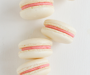 buttercream, coconut, and macarons image