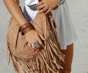 bag, bags, and beige image