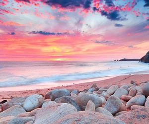 beach, beautiful, and clouds image