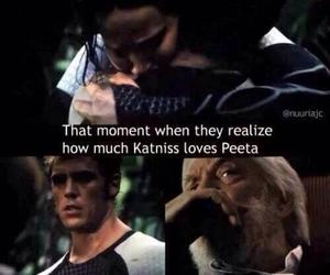 katniss, catching fire, and love image