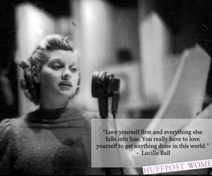 be yourself, Lucille Ball, and quote image