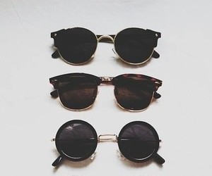 sunglasses, style, and black image