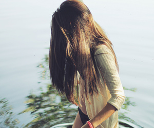 girl, water, and hair image