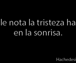 tristeza, frases, and smile image