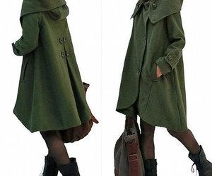 wool coat, etsy, and hoodie image