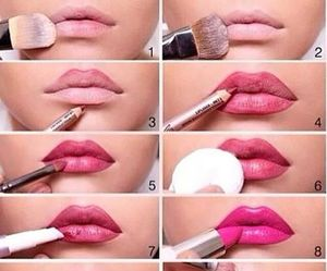 fashion, mak up, and pink lipstick image