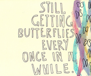 butterflies, drawing, and text image
