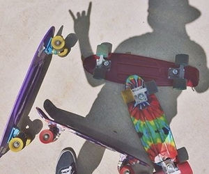 penny, skateboard, and skate image