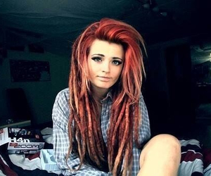 girl, dreads, and beautiful image