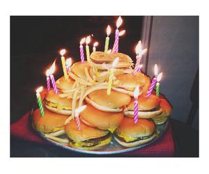 food, birthday, and hamburger image