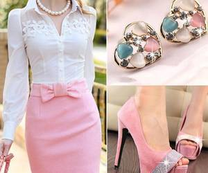 pink, shoes, and dress image