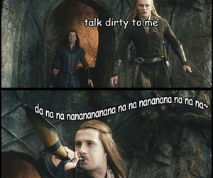 dirty, Legolas, and lord of the rings image