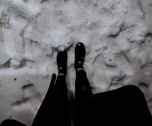grunge, snow, and black image