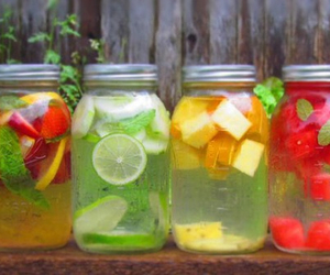 fruit, water, and drink image