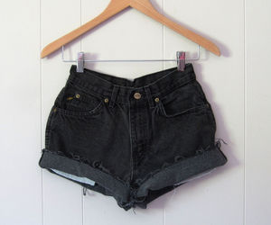 cut offs, fashion, and high waisted shorts image