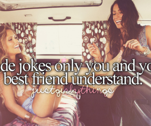 best friends, jokes, and quotes image