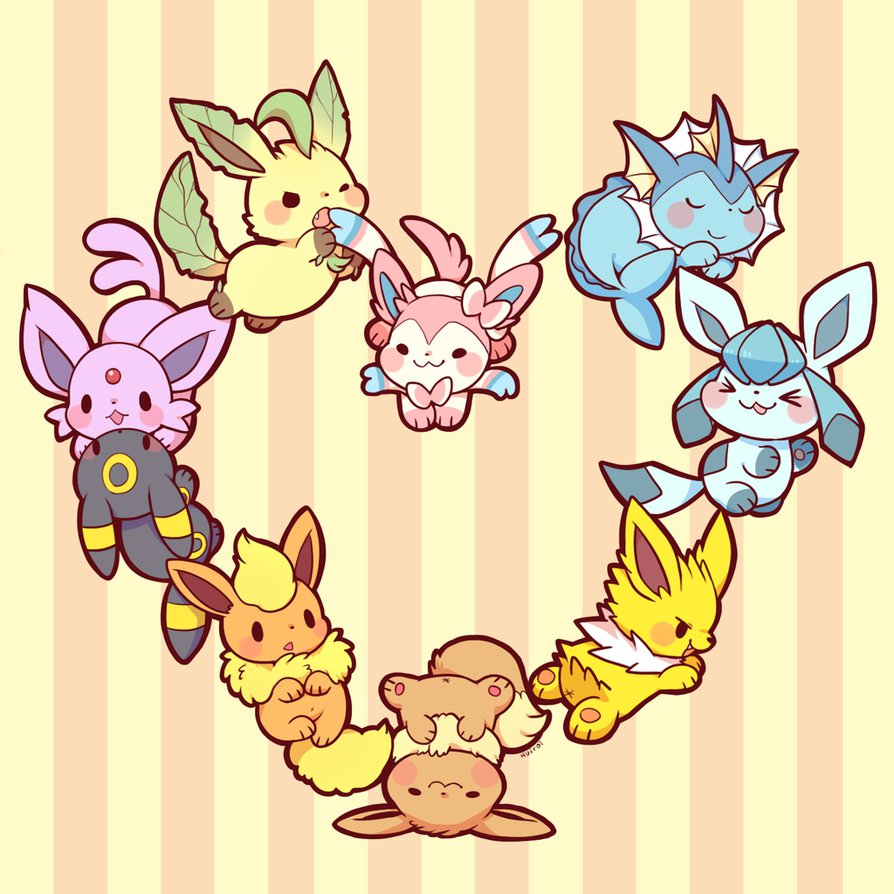 eevee s family shared by ren on we heart it