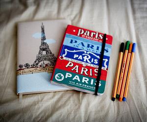 paris, pen, and notebook image