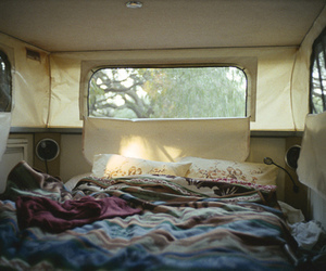 bed, travel, and car image