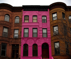 pink, house, and building image