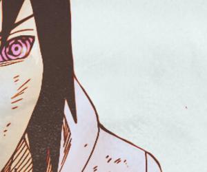 manga, sasuke, and sharingan image