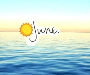june, summer, and Hot image