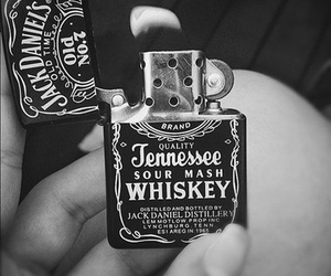 jack daniels, whiskey, and lighter image