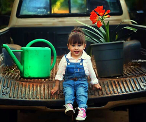 cute, baby, and flower image