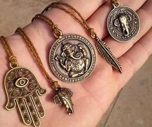 necklace, hippie, and hamsa image