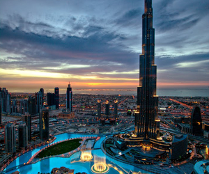 Dubai, city, and night image