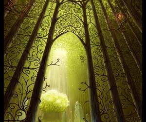 fantasy, gate, and dark image