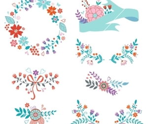 banner, flower, and floral image