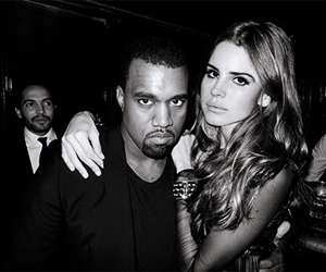 lana del rey, kanye west, and black and white image