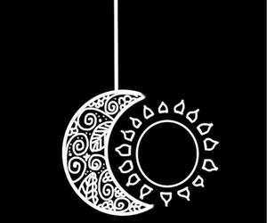 moon, sun, and black image