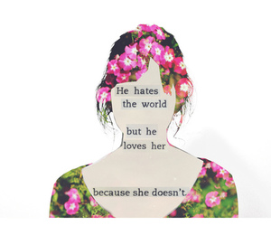 hate, love her, and silhouette image