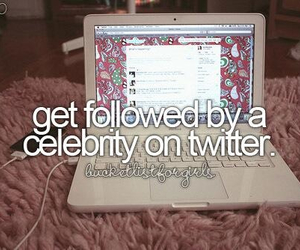 celebrity, twitter, and before i die image