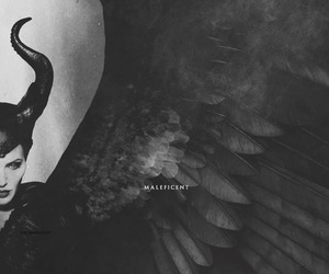 Angelina Jolie, horror, and maleficent image