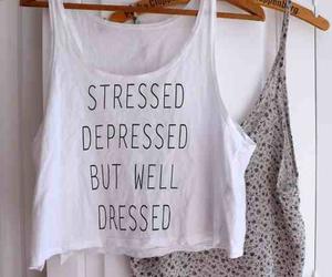 fashion, stressed, and depressed image