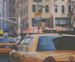 taxi, new york, and car image