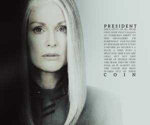 mockingjay and president coin image